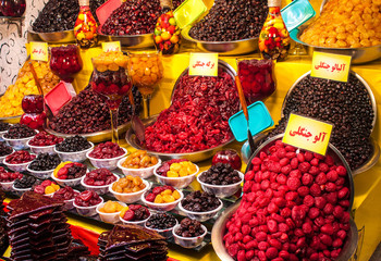 Dried fruit for sale, Tehran, Iran