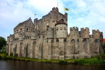 Gravensteen, medieval castle in Ghent, Belgium