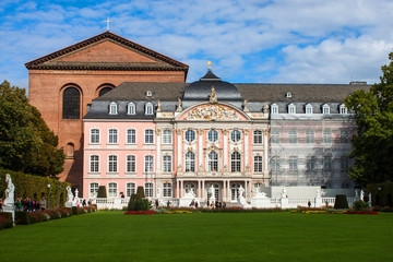 The prince electors palace and the roman basillica in Trier