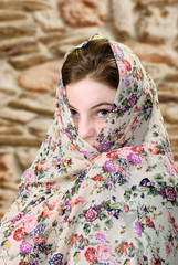 Female with Scarf
