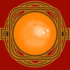 złoty pierścień z bursztynem