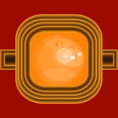 bursztynowy pierścień w złotej oprawie