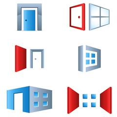 Türen und Fenster - icon set