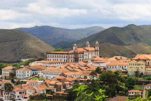 Panoramic view of Ouro Preto in Brazil