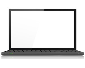 Realistic Laptop or Notebook Computer in Black