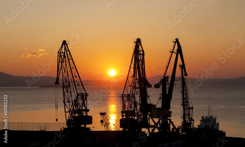 Sunrise in port