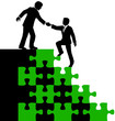 Business people partner help find solution