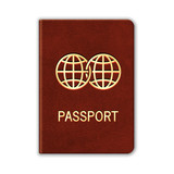 Realistic Passport. Isolated On White. Vector