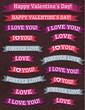 A set of valentine's design, vector