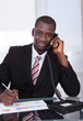 African Businessman Talking On Telephone
