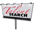 Постер, плакат: Talent Search Billboard Help Wanted Find Skilled Workers