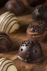 Gourmet Fancy Dark Chocolate Truffle Candy