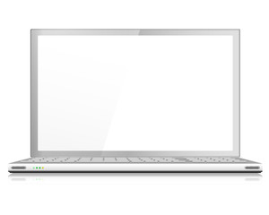Realistic Laptop or Notebook Computer in Silver