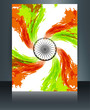 Indian flag presentation template grunge swirl tricolor wave for