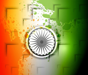 Stylish indian flag republic day creative background tricolor ve