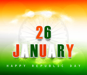 Republic day  indian vector tricolor flag design art