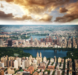 Wonderful aerial view of Central Park, Jacqueline Kennedy Onassi