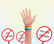 hand with bracelet gay symbol