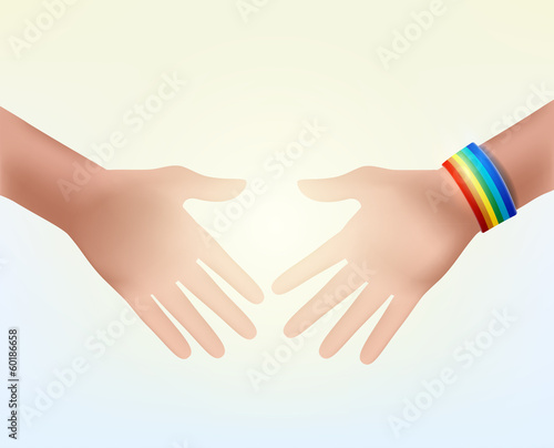 shaking hands as a sign of respect