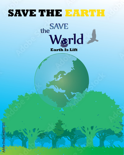 save thw world -Go green concept world