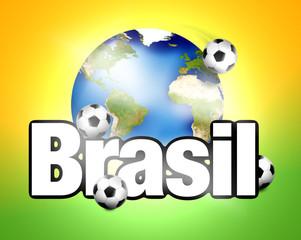Football Brasil planet earth