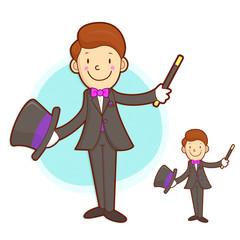 Flexibility as possible a Magician mascot. Work and Job Characte