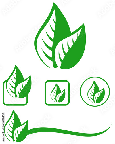 Leaves emblem set