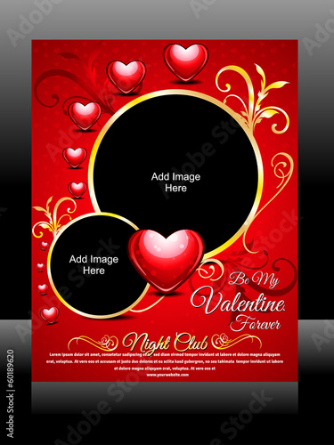 Vector Valentine Day Flyer