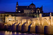 Roman Bridge and Mezquita in Cordoba at Dawn