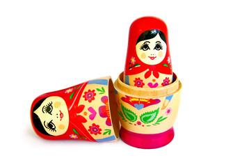 matrioshka doll isolated on white