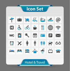 Icon Set Hotel et Travel