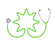 Stethoscope in shape of star