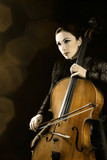Cello cellist playing