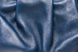 Folded blue leather pattern