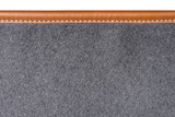 Fototapety Macro of sewn leather binding of rug