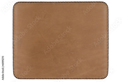 rectangular brown leather