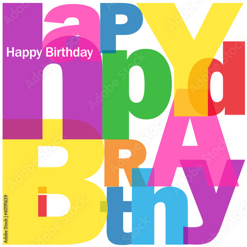 """HAPPY BIRTHDAY"" Letter Collage (congratulations card message)"