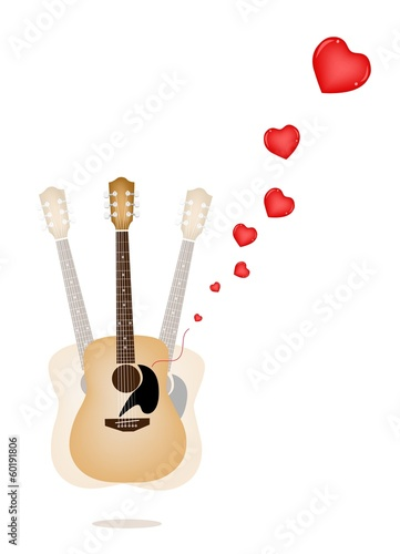 A Beautiful Guitar Playing A Love Song
