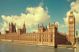 House of Parliament with Big Ben tower in London, UK