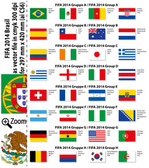 FIFA 2014 Group Flags Flaggen.ai