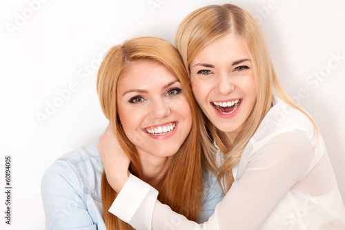 Two female friends having fun