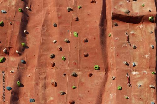 Climbing wall background.