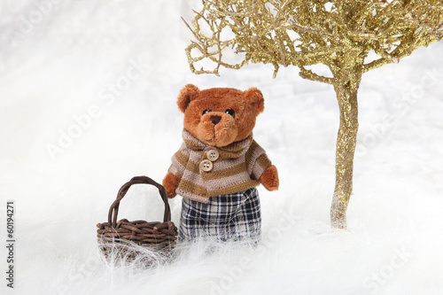 teddy bear with a basket