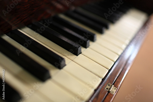 Fragment of piano keyboard