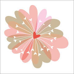 Fleur cœurs