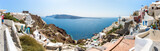 Panorama of Santorini island,Crete,Greece.