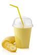 Leinwandbild Motiv Banana smoothie