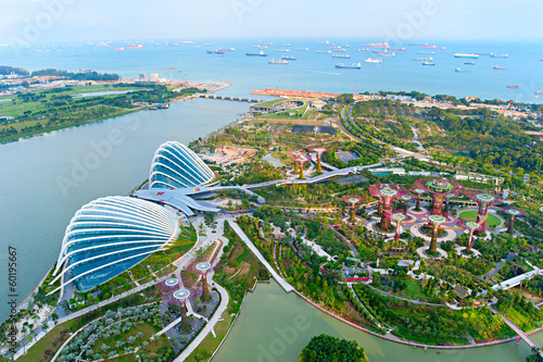 Gardens by the Bay bird's eye view Poster