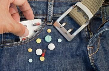 Drugs in pocket