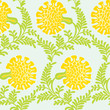 Background with yellow flowers. Seamless texture